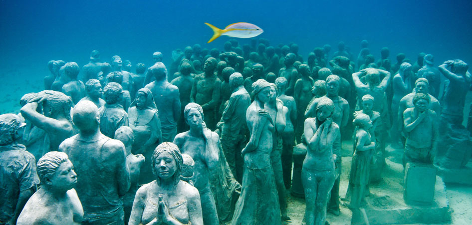 Cancun Underwater Museum Mexico Ten Unique Museums From Around the World TraveLibro Travel Blog