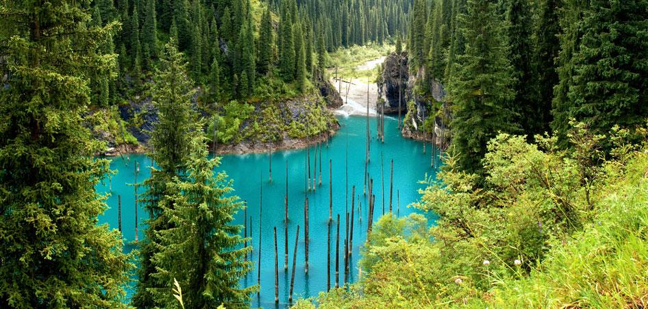Lake Kaindy, Kazakhstan, Top 10 Lakes In The World   TraveLibro Travel Blog