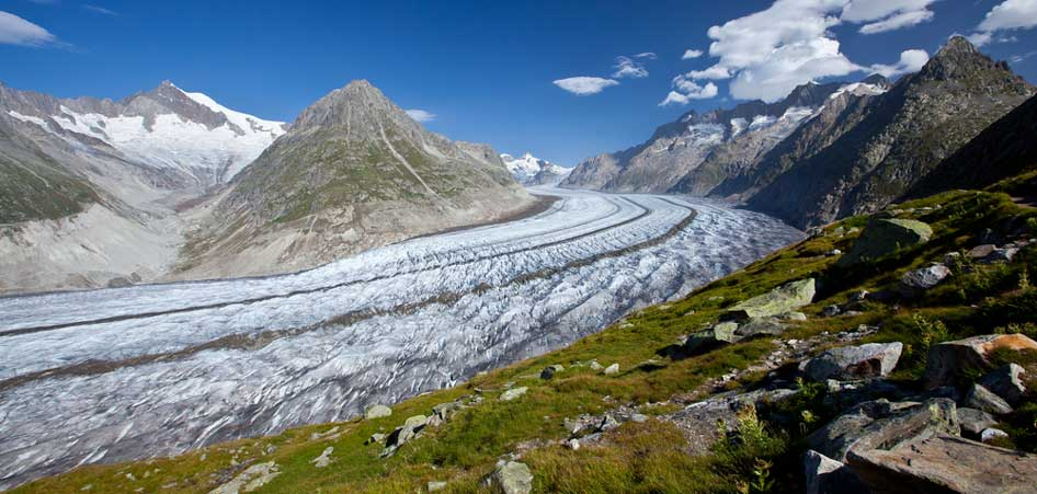 Aletsch Glacier, Switzerland | 15 Best Glacier Hikes In The World | TraveLibro Travel Blog