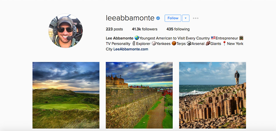 Lee Abbamonte, 10 Unique Travel Instagram Accounts to Follow   TraveLibro Travel Blog