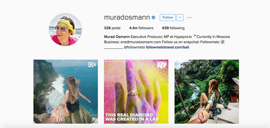 Murad Osmann, 10 Unique Travel Instagram Accounts to Follow   TraveLibro Travel Blog