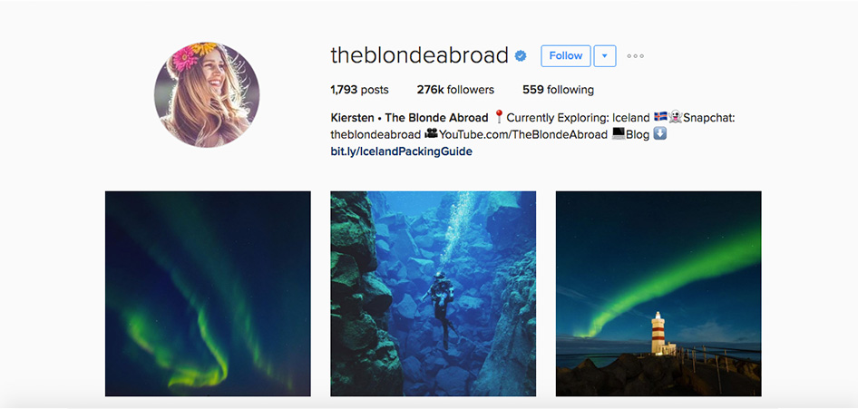 The Blonde Abroad, 10 Unique Travel Instagram Accounts to Follow | TraveLibro Travel Blog