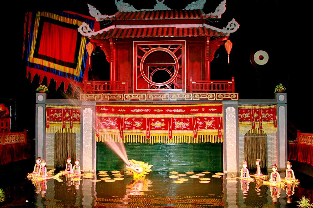 Thang long water puppet theatre via httpvietnamtravelbudget