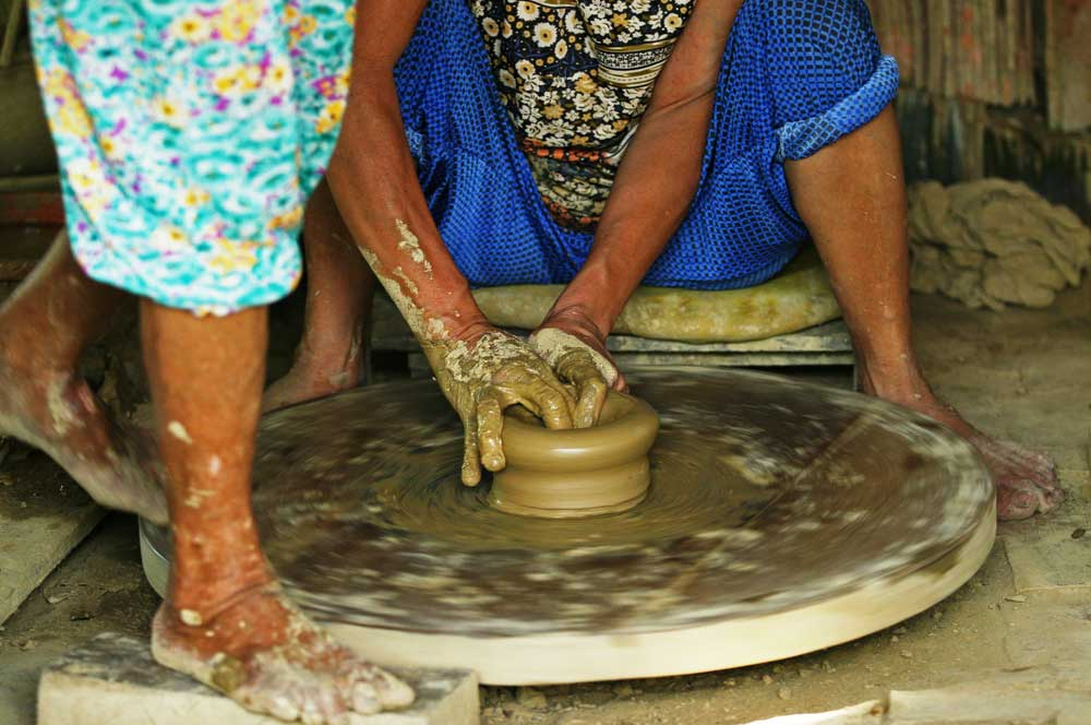Thanh ha pottery village asia images  shutterstock