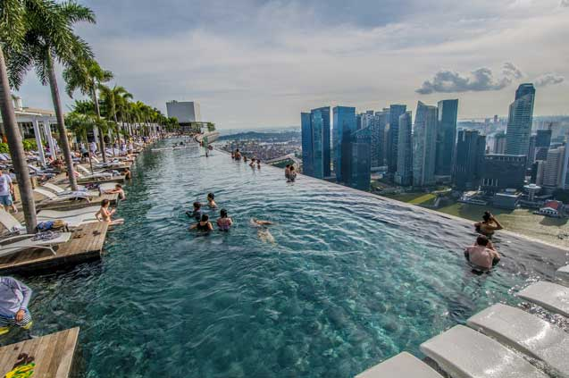 travelibro Singapore Singapore Singapore Adventure Marina Bay Sands Infinity Pool