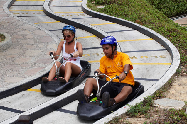 Skyline luge singapore tourism board