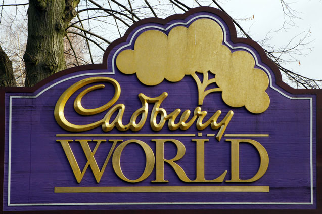 6 cadbury world sign bournville