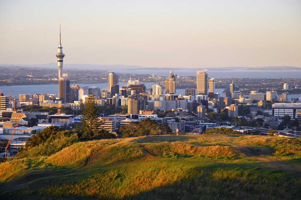 travelibro New Zealand Auckland Christchurch Franz Josef Queenstown Rotorua Wellington New Zealand Budget View from the Auckland Volcanoes