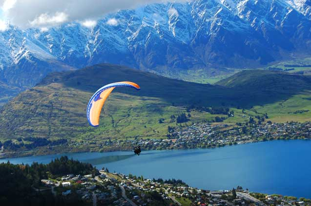 travelibro New Zealand Auckland Christchurch Franz Josef Queenstown Rotorua Wellington New Zealand Budget Paragliding