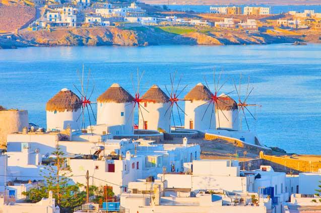 travelibro Greece Athens Crete Mykonos Santorini Greece Budget Windmills of Mykonos
