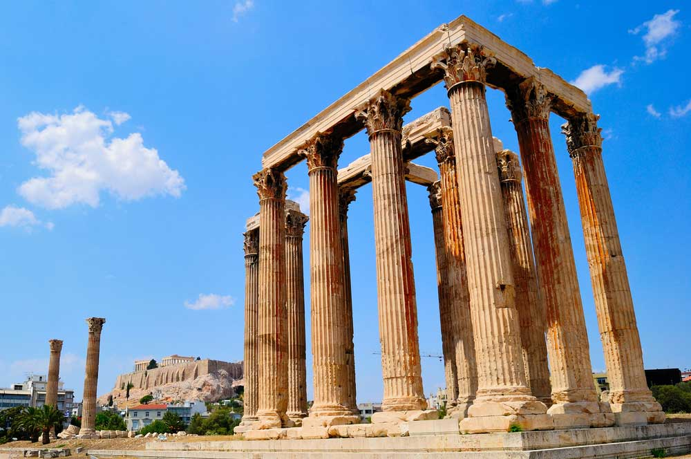 travelibro Greece Athens Crete Mykonos Rhodes Santorini Greece Luxury Temple of Olympian Zeus