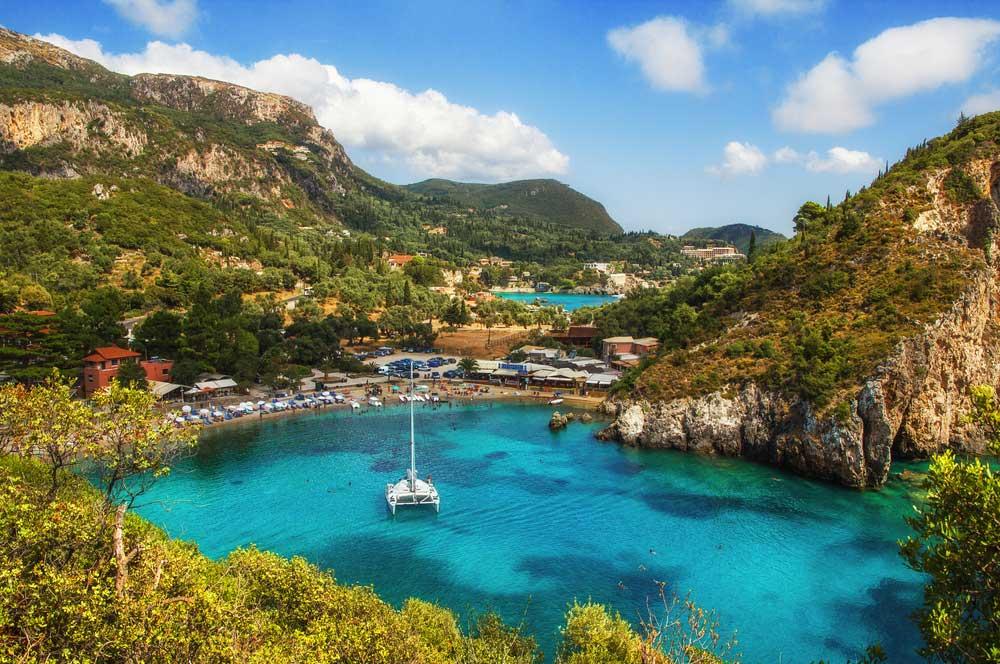 travelibro Greece Athens Corfu Crete Halkidiki Santorini Thessaloniki Greece Family Paleokastritsa Bay