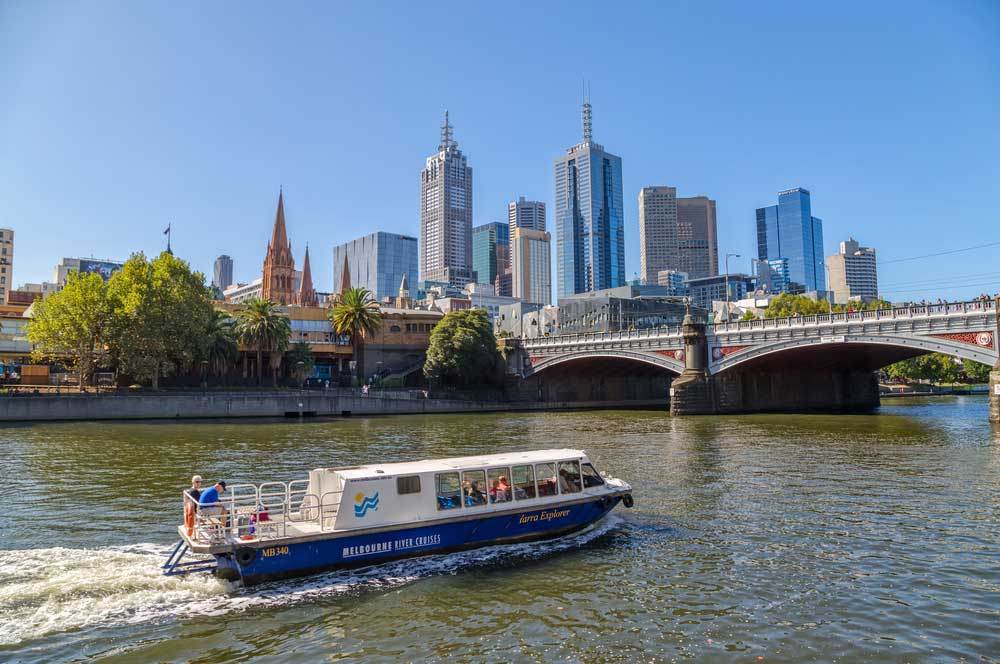 travelibro Australia Blue Mountains Cairns Daylesford Gold Coast Hamilton Island Melbourne Perth Pokolbin Sydney Yallingup Australia Honeymoon Cruise the Yarra River