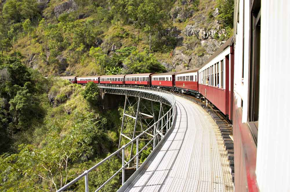 travelibro Australia Blue Mountains Cairns Daylesford Gold Coast Hamilton Island Melbourne Perth Pokolbin Sydney Yallingup Australia Honeymoon Kuranda Scenic Railway