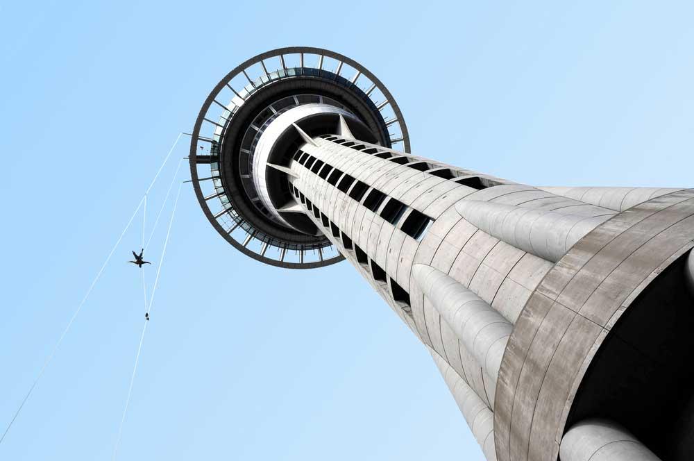 Auckland sky tower chameleonseye  shutterstock