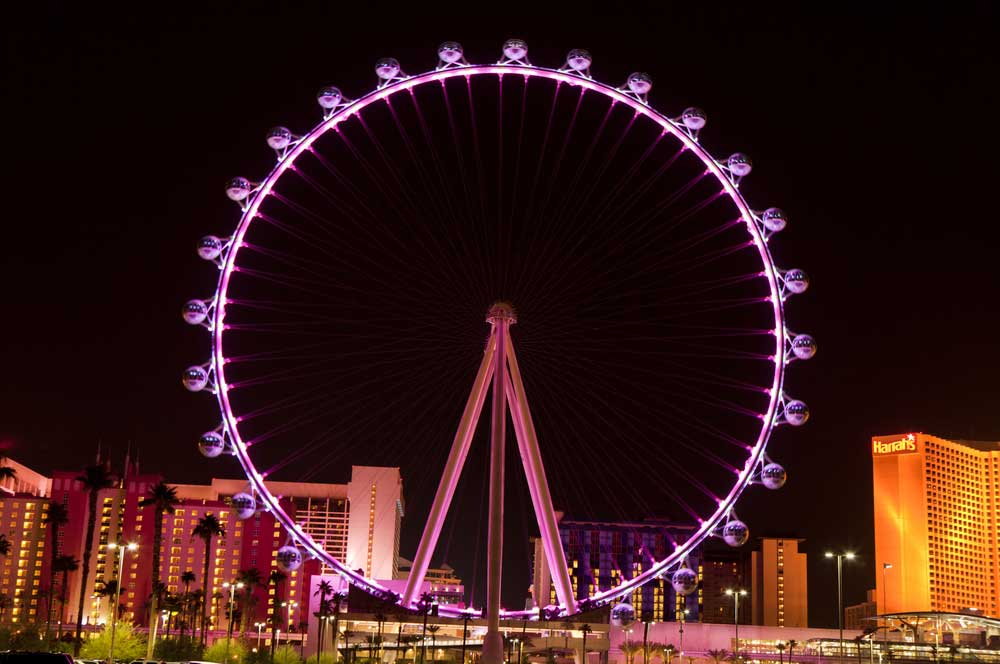 High roller wheel las vegas aneese via shutterstock