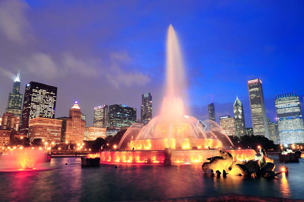 travelibro United States of America Austin Buffalo Chicago Las Vegas Los Angeles New Orleans New York San Francisco USA Budget Buckingham Fountain
