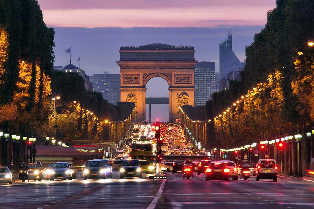 travelibro France Avignon Bordeaux Lille Lyon Marseille Nice Paris Strasbourg Toulouse France Backpacking Champs-Élysées and  Arc de Triomphe