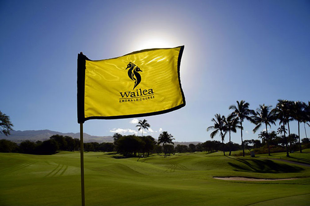 Wailea golf club emerald course flag www.waileagolf