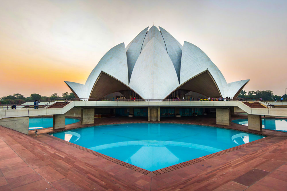 travelibro India Agra Delhi Delhi & Agra Bahá'í  Lotus Temple