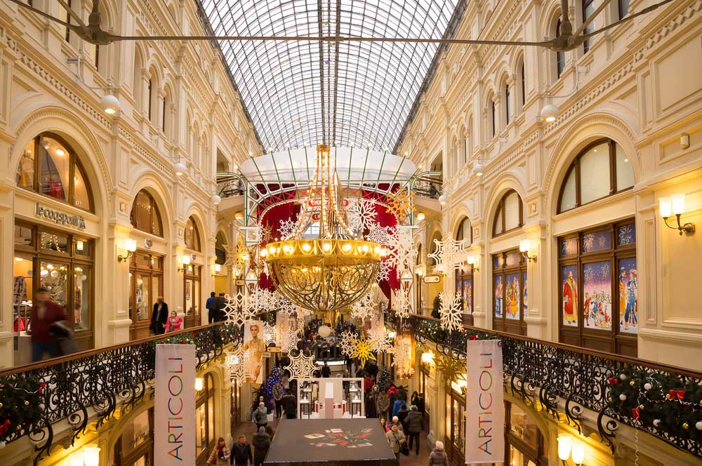 travelibro Russia Moscow St. Petersburg Russia Luxury Shop at the GUM