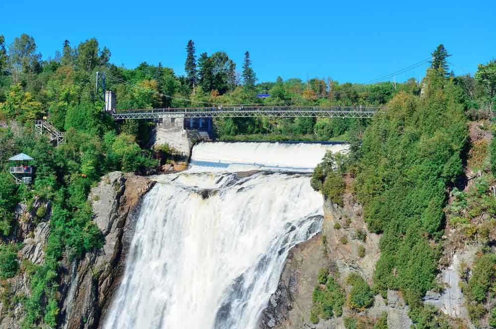 travelibro Canada Banff Montreal Niagara-on-the-Lake Quebec City Toronto Vancouver Victoria Whistler Canada Honeymoon  Montmorency Falls Park