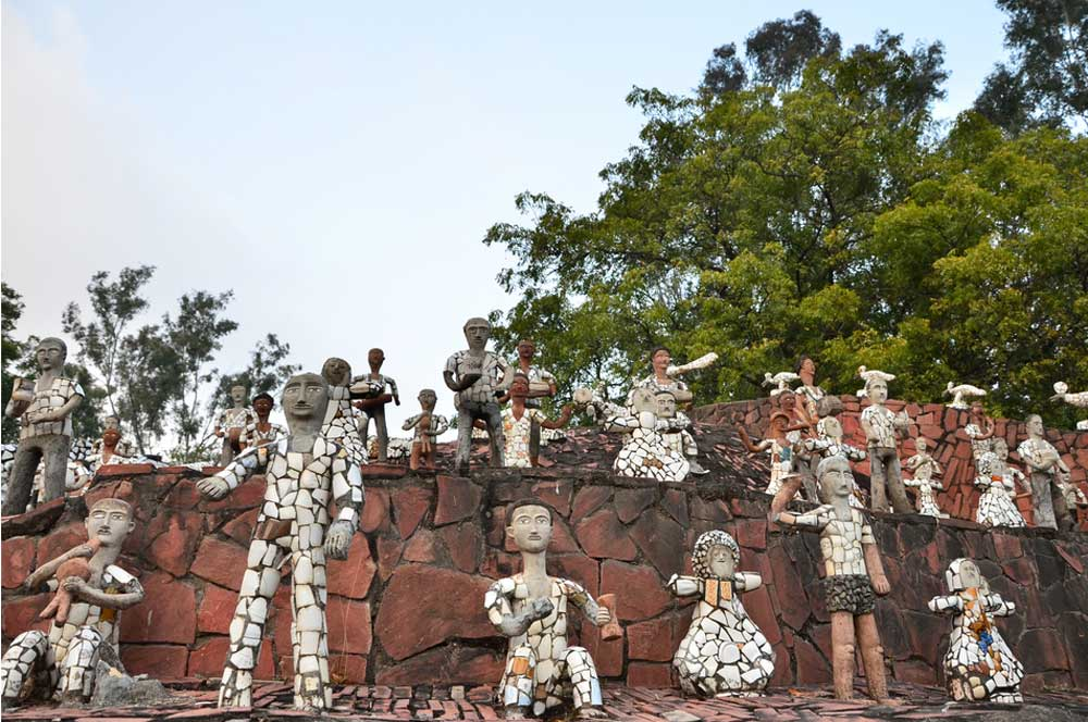 travelibro India Agra Bangalore Chandigarh Delhi Goa Hampi Jaipur Leh Manali Mumbai Shimla Udaipur India Backpacking Nek Chand's Rock Garden