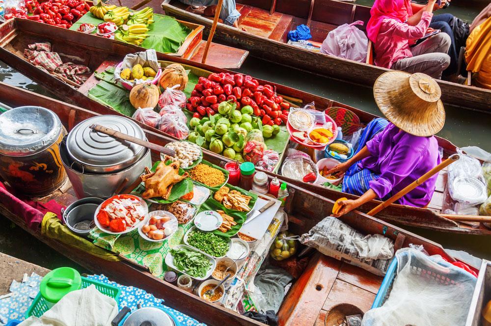2. floating market christian mueller  shutterstock