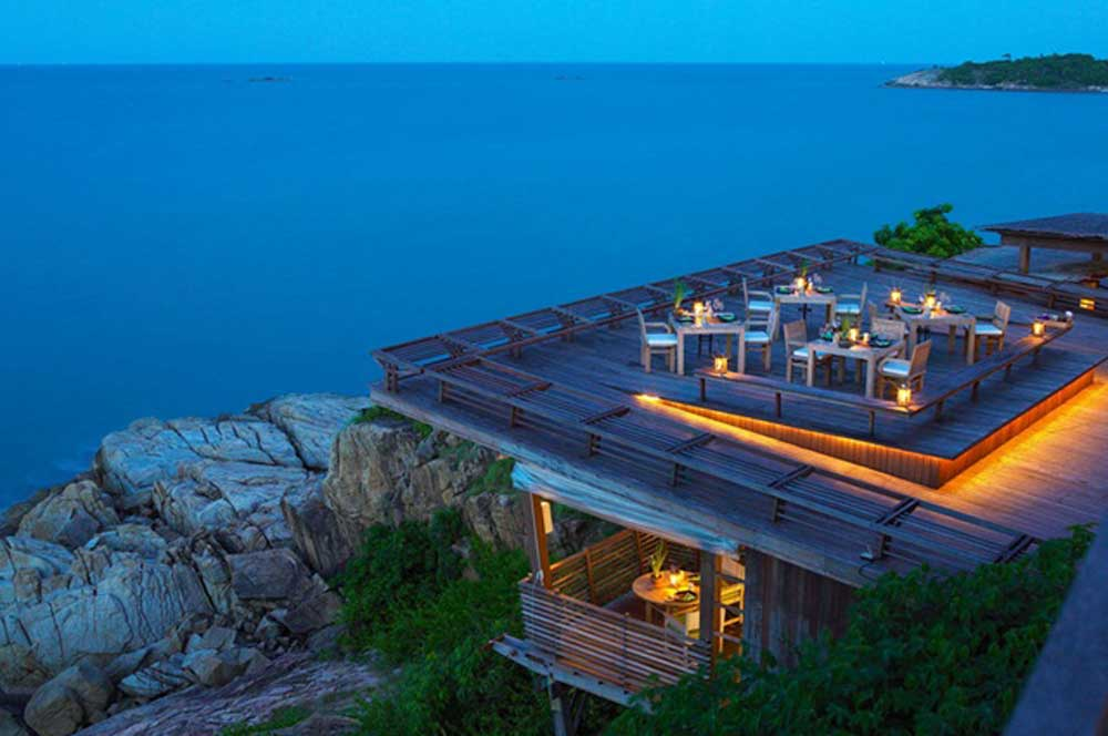 travelibro Thailand Ko Samui Luxurious Ko Samui  Dining On The Rocks