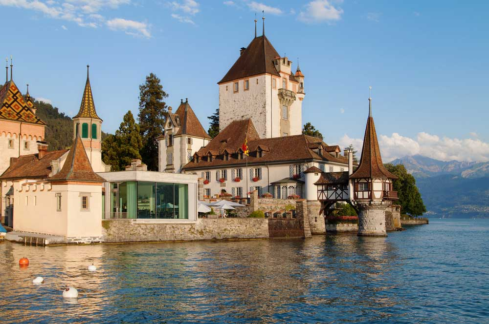 travelibro Switzerland Geneva Interlaken Montreux St. Moritz Zermatt Zurich Switzerland Honeymoon Oberhofen Castle