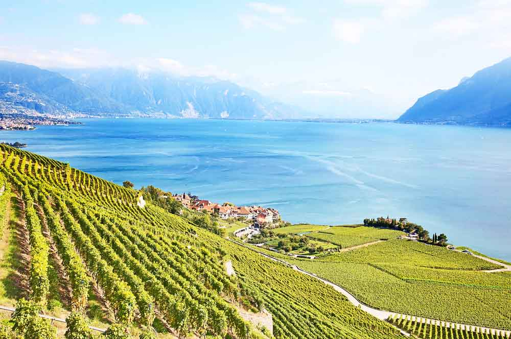 travelibro Switzerland Geneva Interlaken Montreux St. Moritz Zermatt Zurich Switzerland Honeymoon Lavaux Region Vineyards