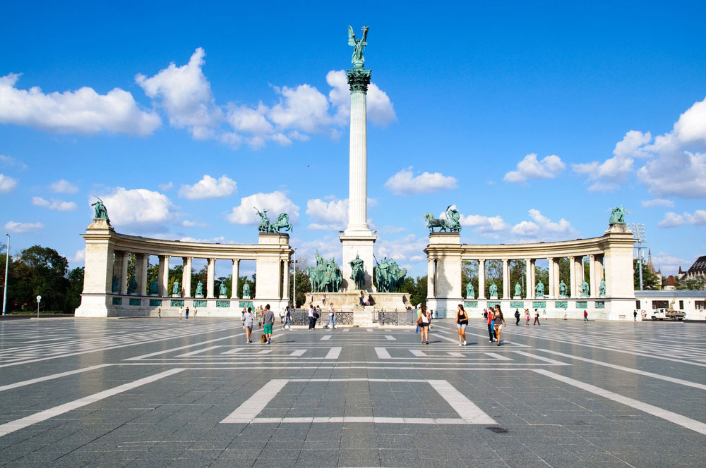 travelibro Hungary Budapest Pecs Siofok Hungary with Kids Andrassy Avenue & Hereos' Square