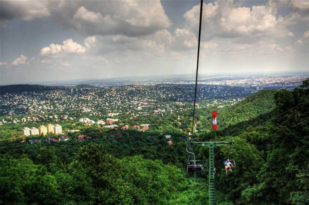 travelibro Hungary Budapest Heviz Lillafured Pecs Sarvar Siofok Visegrad Honeymoon in Hungary Chairlift to Janos Hill