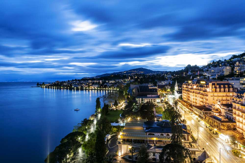 travelibro Switzerland Geneva Interlaken Montreux St. Moritz Zermatt Zurich Switzerland Honeymoon Lakeside Promenade