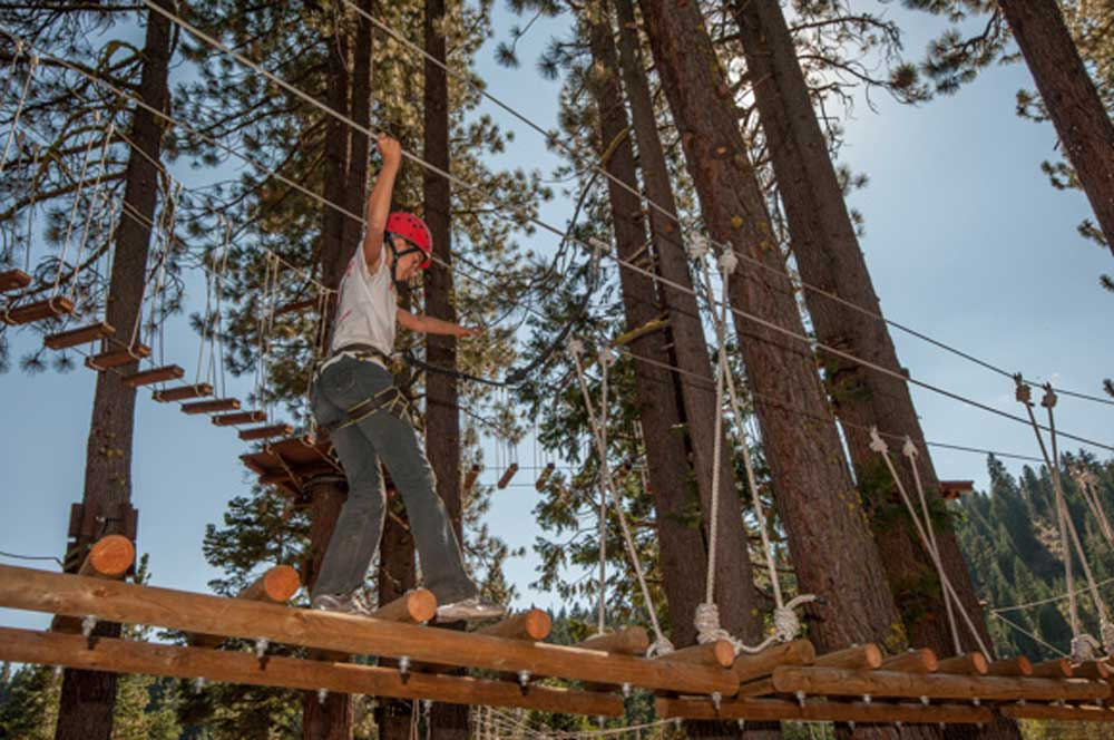 Peeler bridge tahoe treetop adventure park