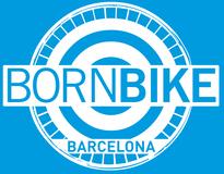Logo bornbike real negativo